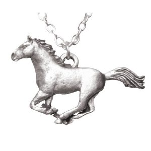 Galloping horse necklace 733
