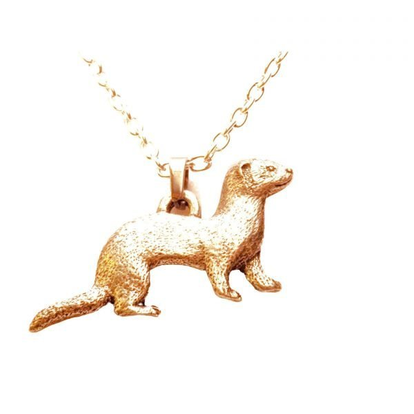 Large ferret pendant necklace 264