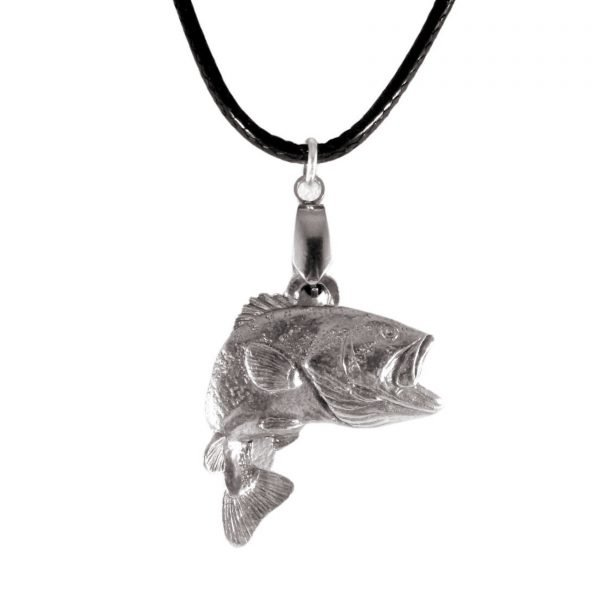 Largemouth jumping bass necklace 1661