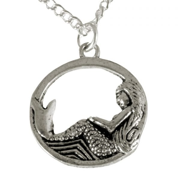 Lounging mermaid necklace 1502