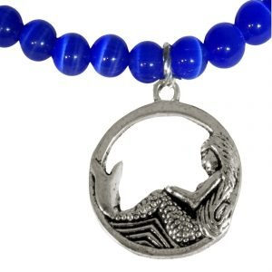 Mermaid and blue catseye glass 1631