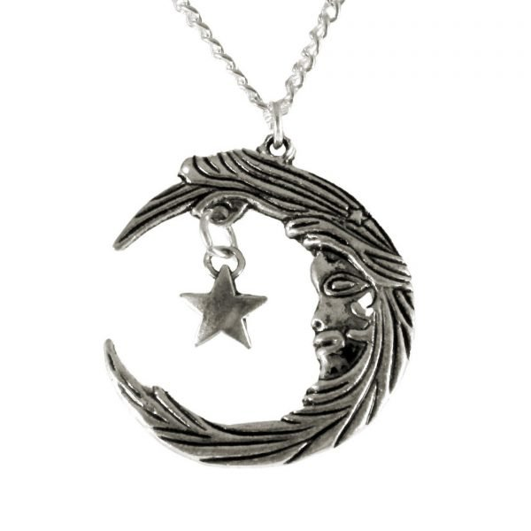 Moon goddess and star necklace 1632