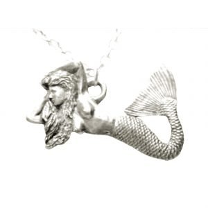 Pewter mermaid necklace 1099