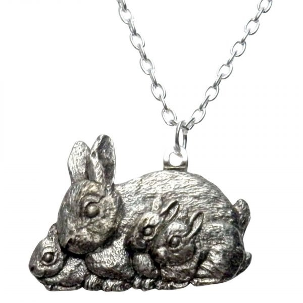Rabbit and kits necklace 466
