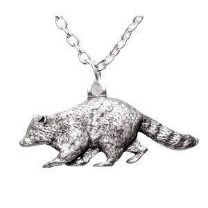 Raccoon necklace 598-
