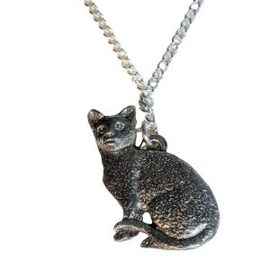 Short haired cat necklace 470-