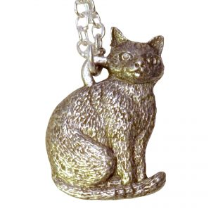 Sitting cat necklace 469