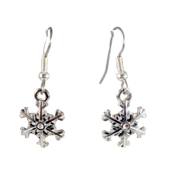 Small snowflake earrings 1696
