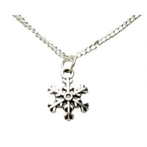 Small snowflake necklace 1466
