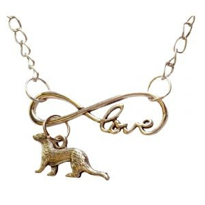 infinite love ferret necklace 604
