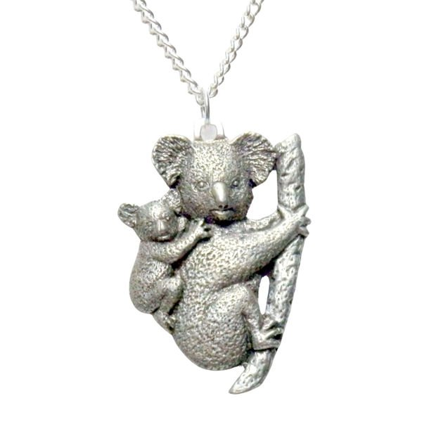 Mama Koala Bear and Baby Necklace 986