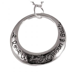 I love you to the moon and back locket 1700