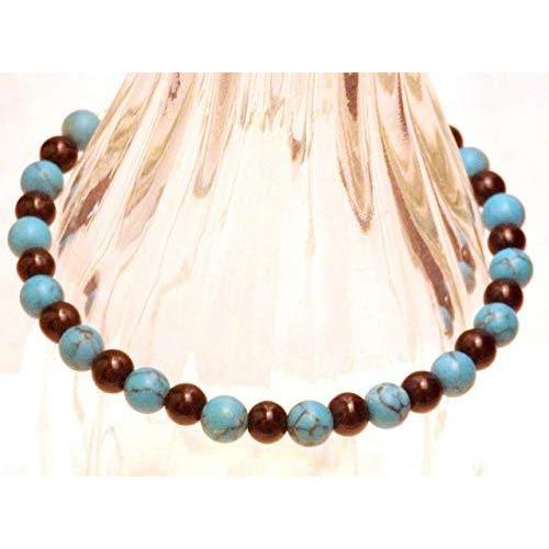 Obsidian and Faux Turquoise Bracelet 1351