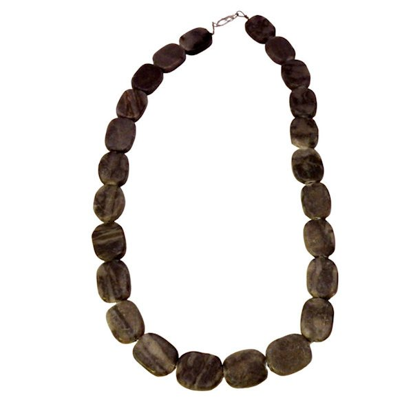 Black and gray marble necklace 662-4