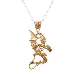 Pewter dragon necklace 1093