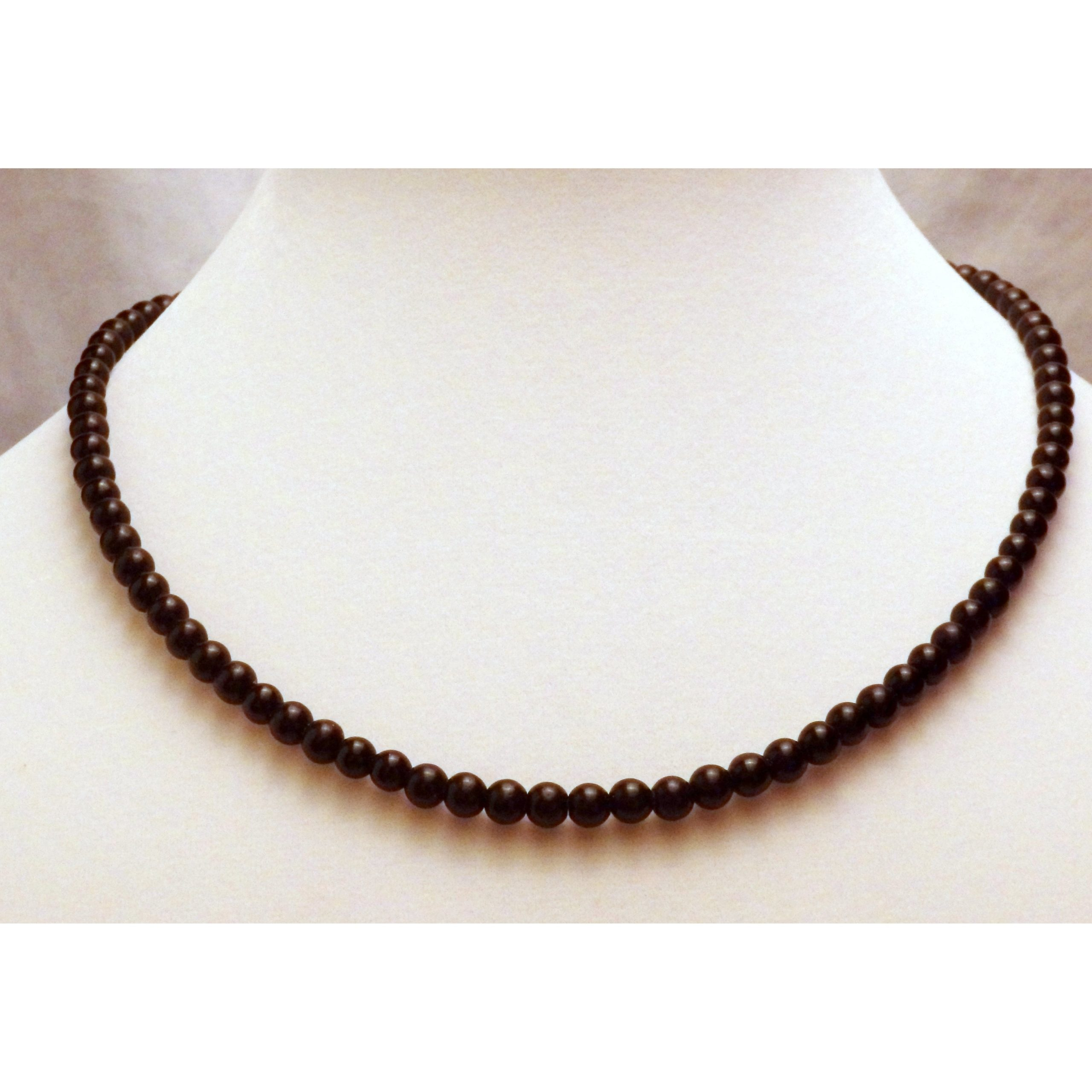 Obsidian Beaded Necklace 1213