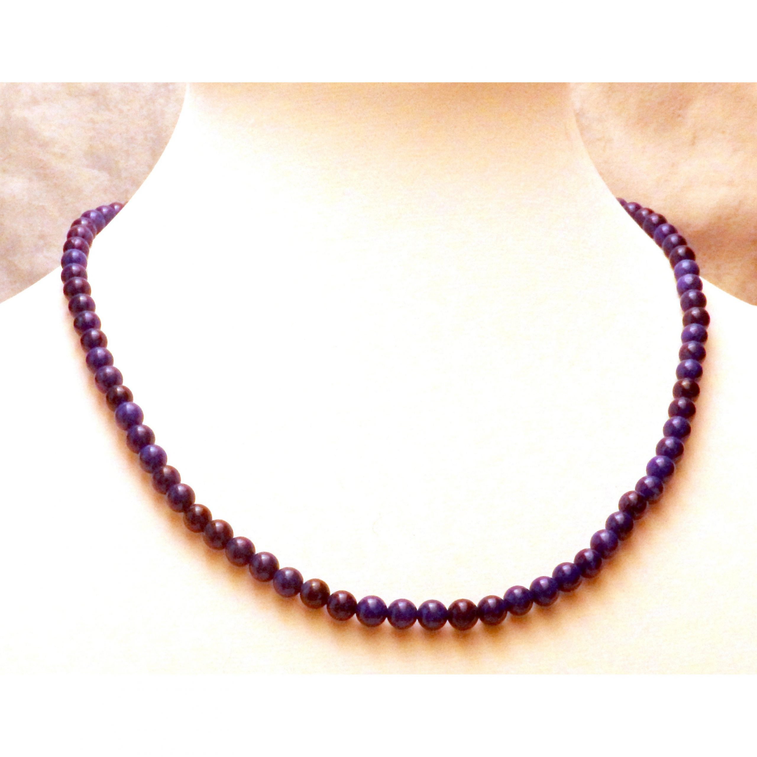 Lapis Blue Howlite Necklace 1433