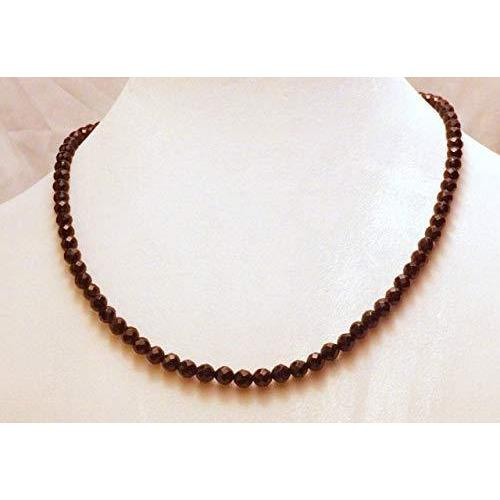 Faceted Black Beaded Onyx Necklace 1525