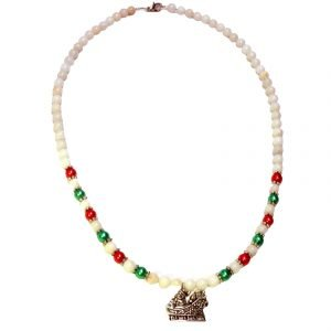 Santa's sleigh and xmas necklace 1552