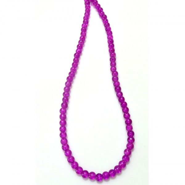 Purple Beaded Crystalline Necklace   1568