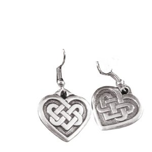 Knotwork heart earrings 1724
