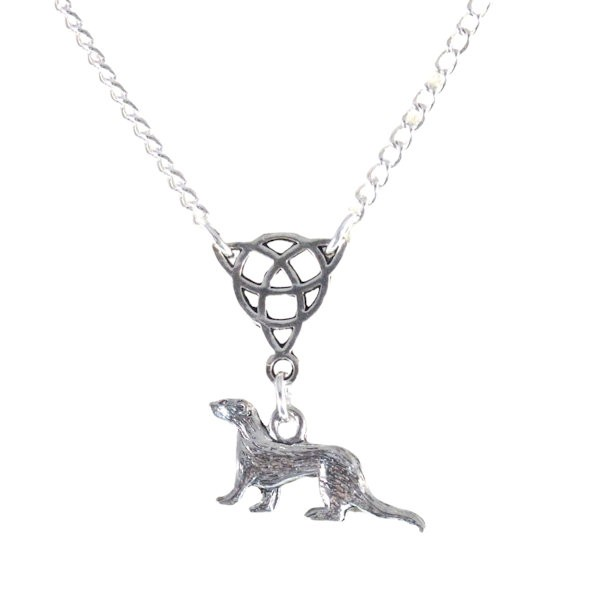 Ferret and triquetra necklace 1772