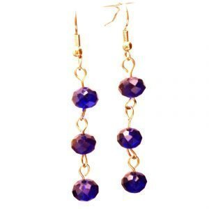 Blue glass Czech earrings 784