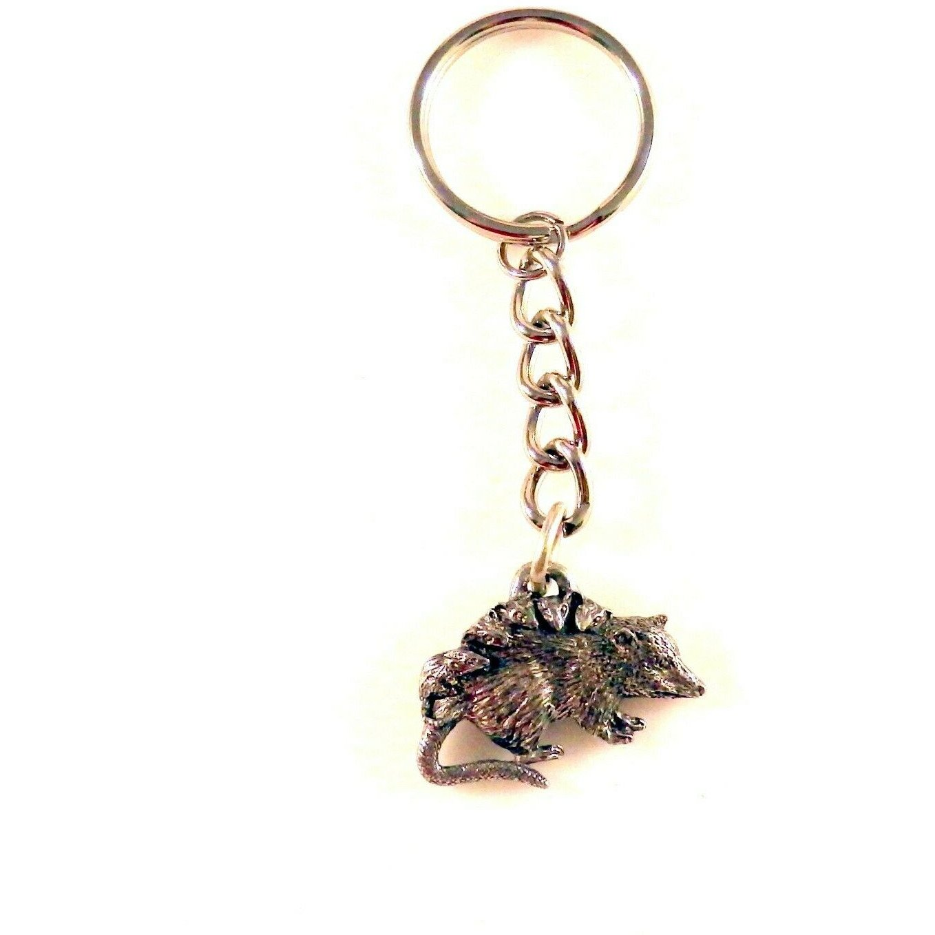 Pewter mama possum key chain (464K)
