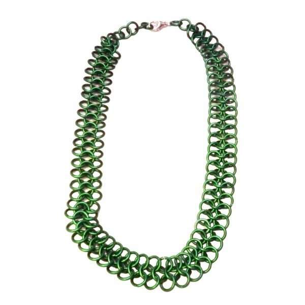 Green European 4 In 1 Chain Mail Necklace 1596