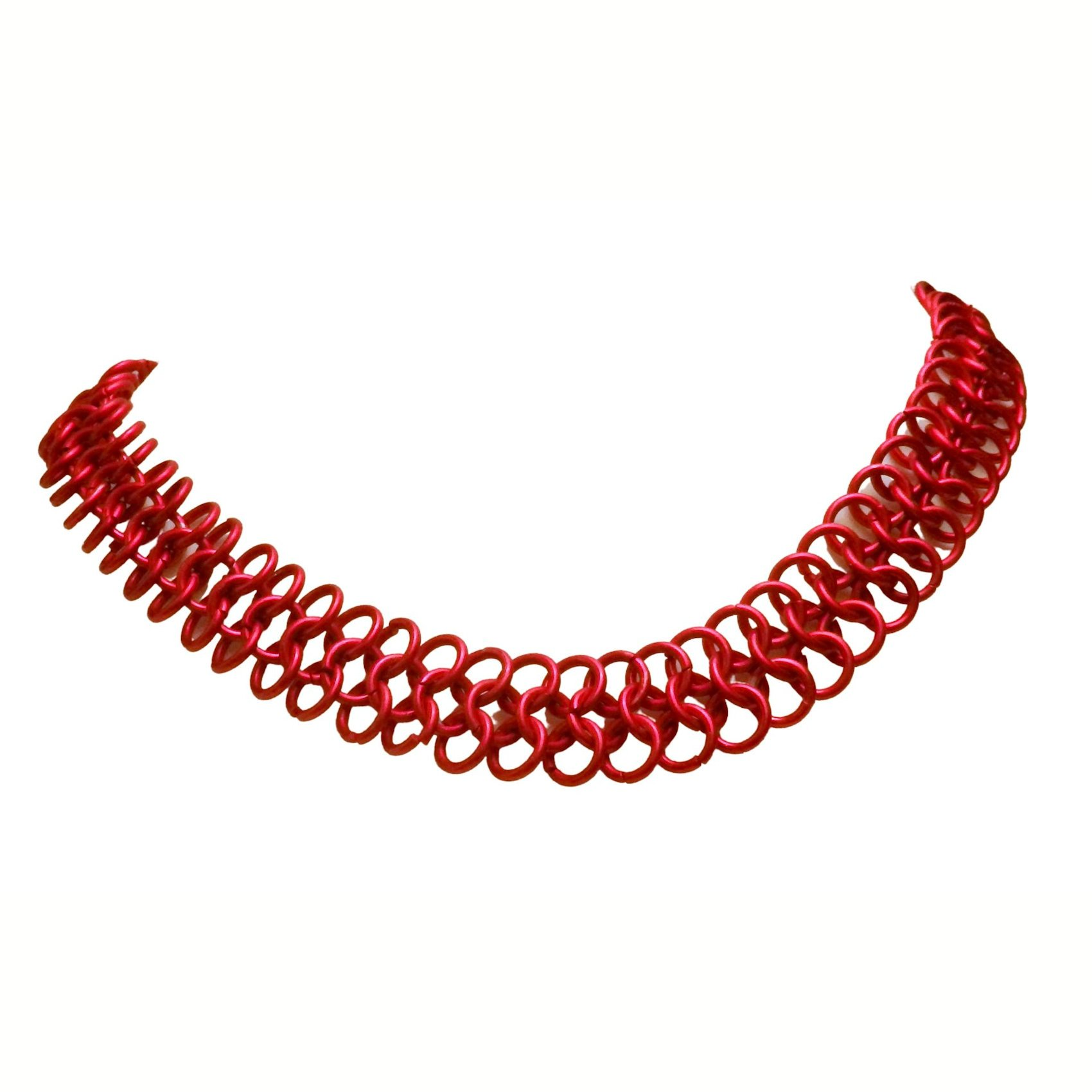 Red European 4 In 1 Chain Mail Necklace 1267