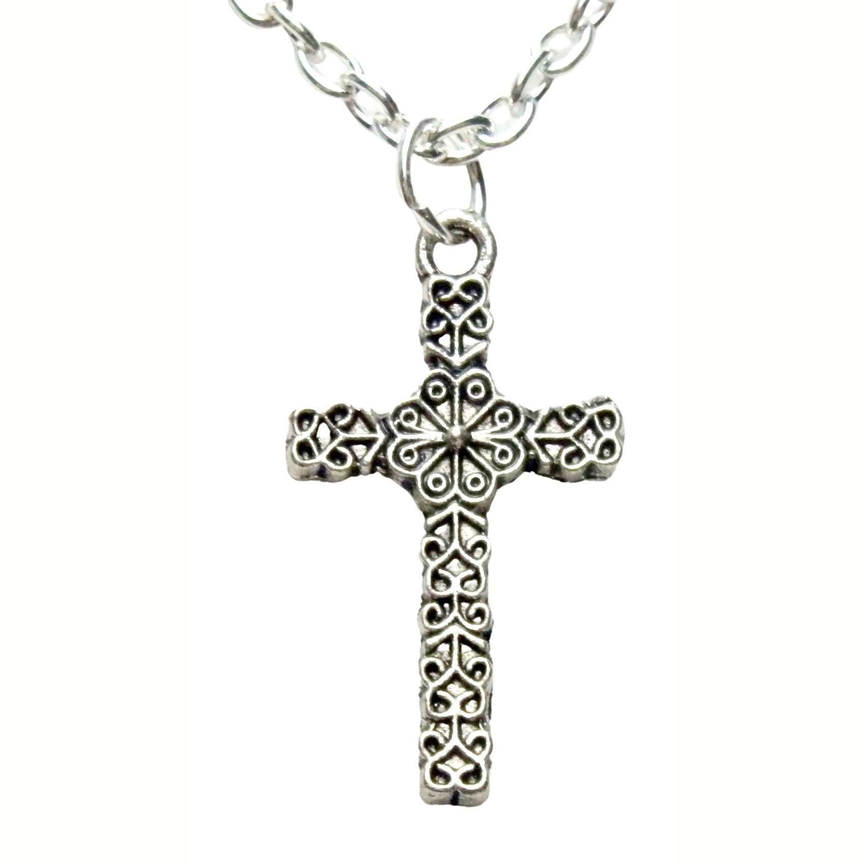 Small Filigree Celtic Cross Necklace 1477