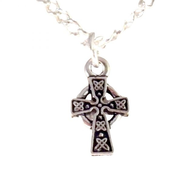 Tiny St Brigid Cross Necklace 1603