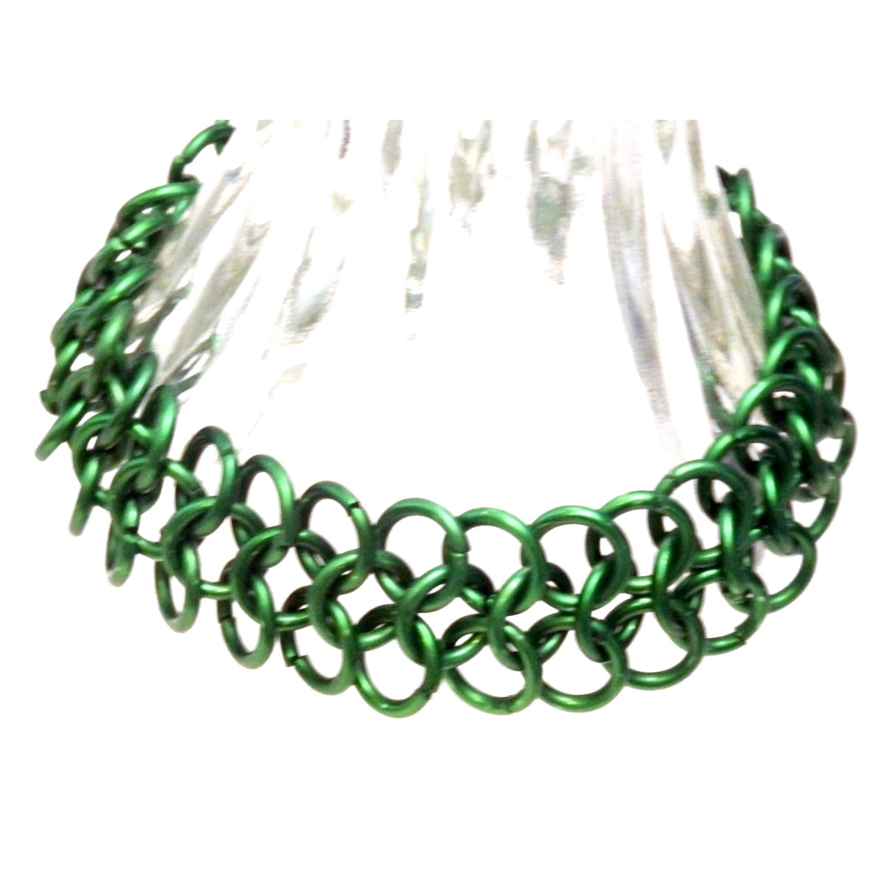 Green European 4 In 1 Chain Mail Bracelet 1271