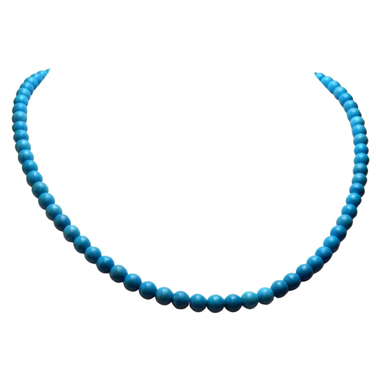 Aqua blue magnesite necklace or faux turquoise 1215