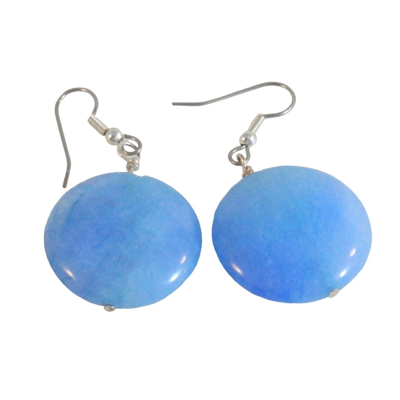 Blue Dolomite Marble Earrings 1644