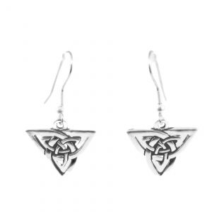 Triangle knotwork earrings 1745