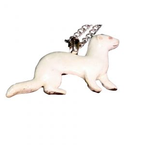 Albino ferret necklace 736