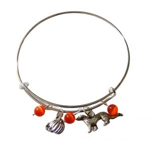 Fall ferret pumpkin bangle 1162