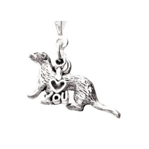 I love you ferret necklace 435