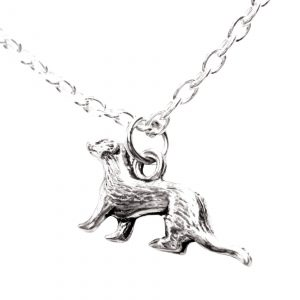 Fine pewter ferret necklace 150