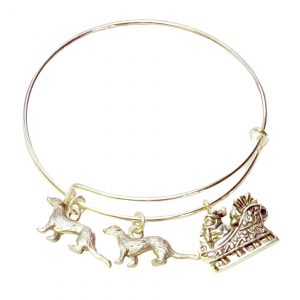 Christmas ferrets and Santa bangle bracelet 1156