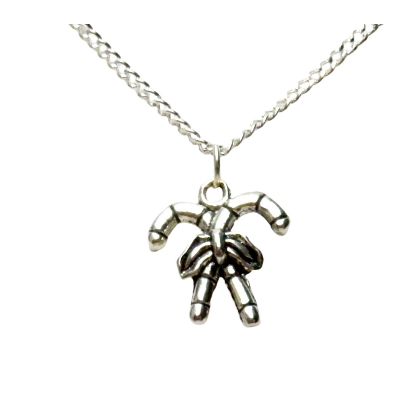 Crossed candy cane necklace 1467