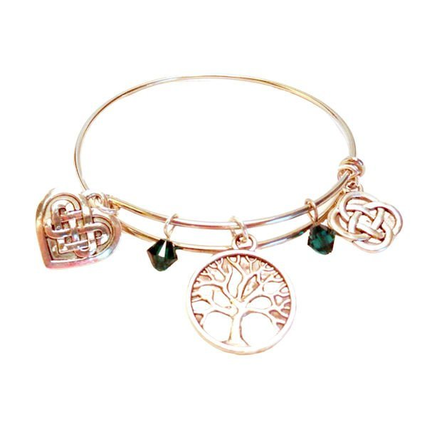 3 charm celtic bangle 1132