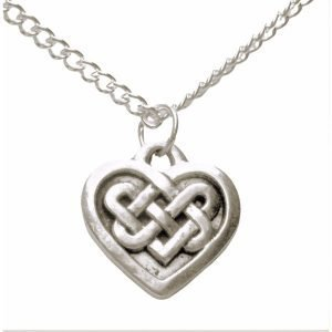 Celtic heart necklace 1385-