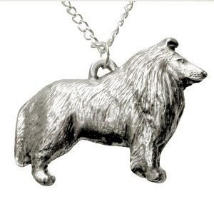 Collie dog necklace 1566