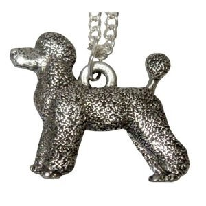 French poodle necklace - pet clip- necklace 1557