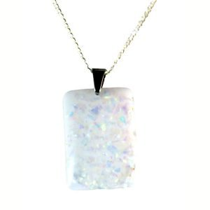 Imitation druzy quartz resin necklace 1642