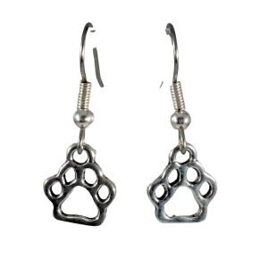 Paw print earrings 1673