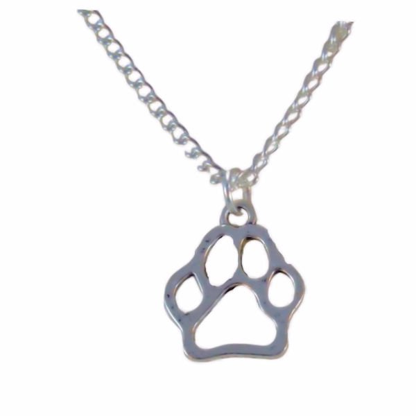 Paw print necklace 1388