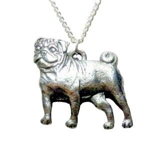 Pug dog necklace 1507